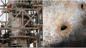 Οι κατεστραμμενες πετρελαϊκες εγκαταστάσεις στη Σαουδική Αραβία