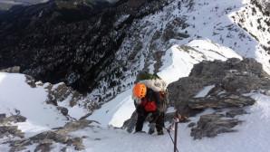 Ορειβάτης στον Όλυμπο