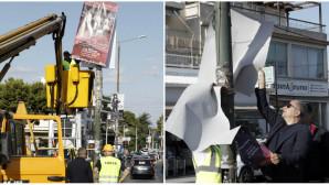 Αφαίρεση παράνομων διαφημιστικών πινακίδων