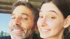 Ο Θοδωρής Αθερίδης με την κόρη του Φωτεινή