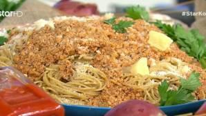 Μακαρόνια σπαγγέτι με μπολονέζ κοτόπουλο