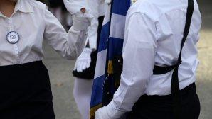 Σημαιοφόρος στην παρέλαση