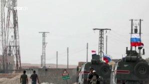 Ρωσικά και συριακά τεθωρακισμένα στην εγκαταλελειμμένη βάση των ΗΠΑ
