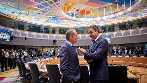 Μητσοτάκης Τουσκ στη σύνοδο κορυφής της ΕΕ