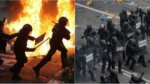 Συγκρούσεις διαδηλωτών με την αστυνομία στη Βαρκελώνη