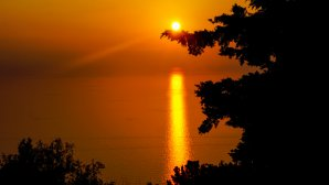 Δύση ηλίου στη Μάνη