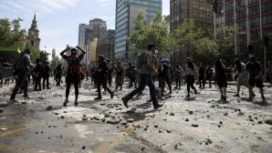 βίαιες ταραχές στη Χιλή