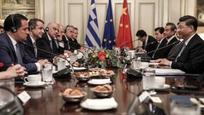 Κινέζος Πρόεδρος Σι Τζινπίνγκ Κυριάκος Μητσοτάκης