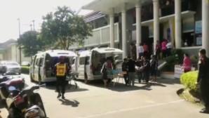 Ασθενοφόρα έξω από το δικαστήριο στην Ταϋλάνδη
