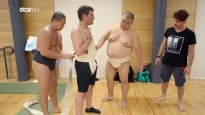 Χρήστος και Παντελής με τους δασκάλους του Sumo