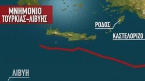 χάρτης Ρόδος- Καστελλόρυζο