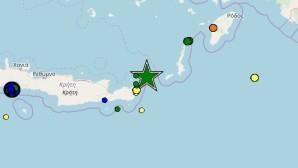Σεισμός 5,3 Ρίχτερ στη θαλάσσια περιοχή της Κρήτης