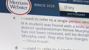 H λέξη they στο λεξικό Merriam Webster