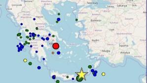 χάρτης Ελλάδας που δείχνει σεισμούς