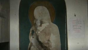βεβήλωση της εικόνας της Παναγίας