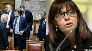 Η Αικατερίνη Σακελλαροπούλου και ο Κυριάκος Μητσοτάκης