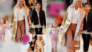 Η Ελένη Μενεγάκη για ψώνια με τις κόρες της