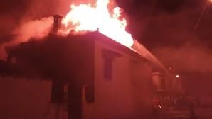 η μονοκατοικία όπου ξέσπασε η φωτιά