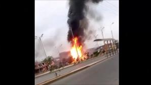 Περού έκρηξη βυτιοφόρου