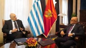Ο Νίκος Δένδιας και ο Μαυροβούνιος ΥΠΕΞ Σέρντζαν Νταρμάνοβιτς