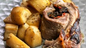 Συνταγή Για Γεμιστή Πανσέτα Στη Γάστρα Με Πουρέ Πατάτες