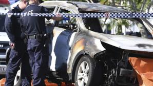 καμμένο αυτοκίνητο στην Αυστραλία