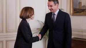 Κυριάκος Μητσοτάκης με την Υπουργό Άμυνας Της Γαλλίας Φλοράνς Παρλί