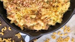 νηστίσιμα mac & cheese με γαρίδες και κάσιους