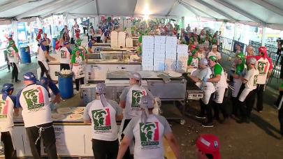 Αργεντίνοι σεφ σπανε το παγκόσμιιο ρεκόρ παρασκευής πίτσεων
