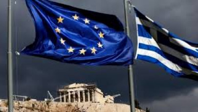σημαίες ΕΕ Ελλάδας σύννεφα