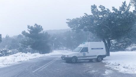 ΑΥΤΟΙ είναι οι δρόμοι που έχουν κλείσει λόγω χιονιά