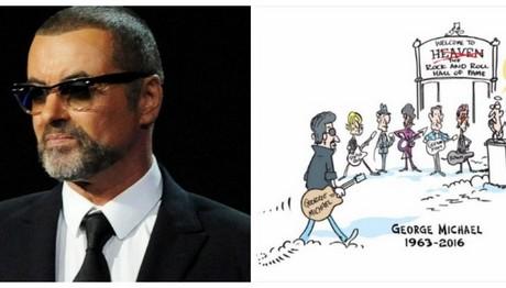 Συγκλονιστικό σκίτσο για τον Τζόρτζ Μάικλ