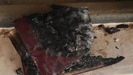 Βέβηλοι: Έγραψαν «ο Αλλάχ είναι μεγάλος» σε εκκλησία της Κρήτης και έκαψαν εκκλησιαστικά βιβλία!