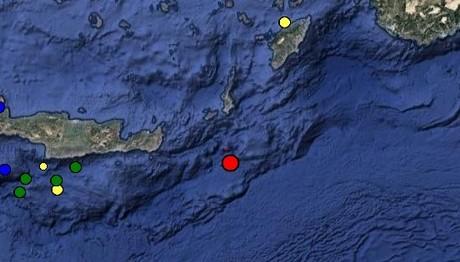 Σεισμός 4,6 βαθμών της κλίμακας Ρίχτερ στην Κάρπαθο