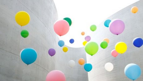 Πολύχρωμα μπαλόνια στον ουρανό της Νότιας Κορέας