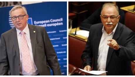 Γιούνκερ σε Παπαδημούλη: «Η Κομισιόν θέλει την Ελλάδα έξω από τη διαδικασία των υπερβολικών ελλειμμάτων»