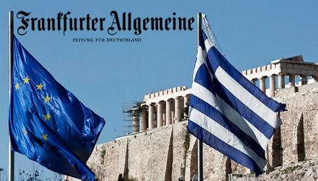 FAZ: «Η Ελλάδα όχι μόνο δεν πληρώνει τίποτα για το χρέος της, αλλά κερδίζει και από αυτό»