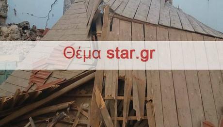 ΒΙΒΛΙΚΗ η καταστροφή στα Βρίσα από το σεισμό!