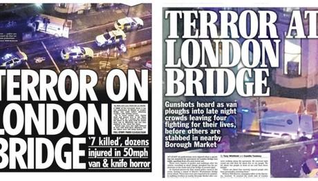 Ο βρετανικός Τύπος για την τρομοκρατική επίθεση: «Τρόμος στη Γέφυρα του Λονδίνου»!
