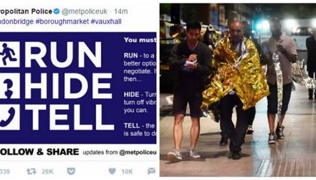 Λονδίνο-«Τρέξε, κρύψου, πες το»: AYTO ήταν το μήνυμα της Αστυνομίας στους πολίτες