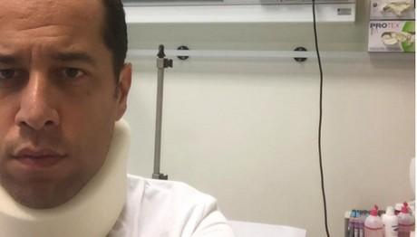 Ο Χάρης Σιανίδης στο νοσοκομείο