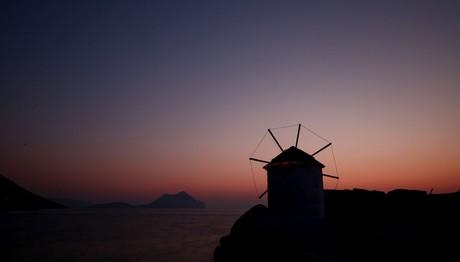 Ηλιοβασίλεμα στην Αμοργό