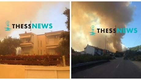 Φωτιά στην Χαλκιδική-Εκκενώθηκε ξενοδοχείο στις Σέρρες