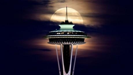 Μια νύχτα στο Space Needle του Σιάτλ