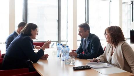 Το πρόγραμμα της ΝΔ παρουσίασε ο Μητσοτάκης σε Επιτρόπους