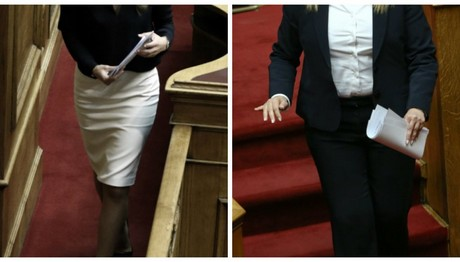 «Black & White» επέλεξαν χθες οι κυρίες στη Βουλή