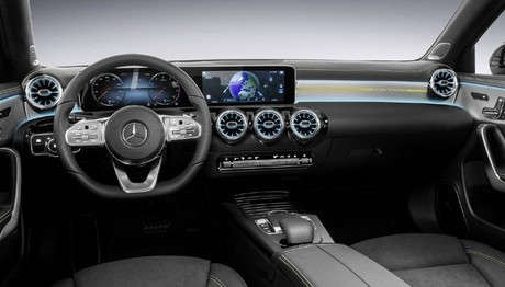 Οι πρώτες φωτογραφίες από το εσωτερικό της νέας Mercedes A-Class