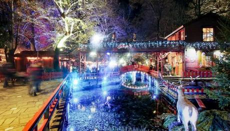 Χριστουγεννιάτικη ατμόσφαιρα στην Ονειρούπολη Δράμας