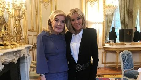 Συνάντηση Brigitte Macron και Μαριάννας Βαρδινογιάννη