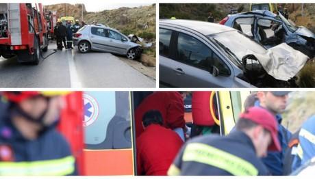 Πολύνεκρο τροχαίο στην Κρήτη - 3 νεκροί και τραυματίες